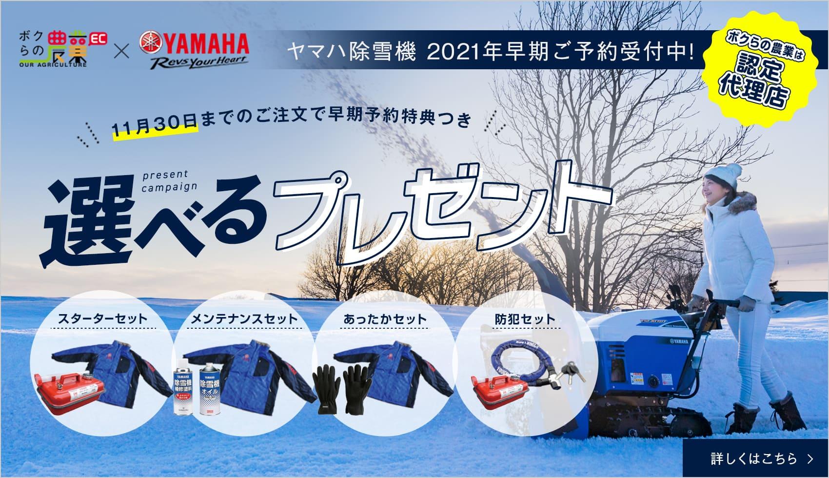 除雪機の特集ページ